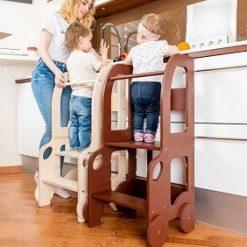 Ddeux Tours Montessori à hauteur réglable