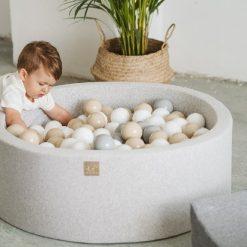 Piscine à balles ronde pour bébé grise